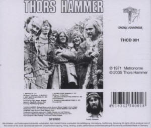 Tył okładki Thors Hammer