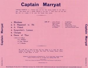 """""""Captain Marryat"""" - tył okładki"""