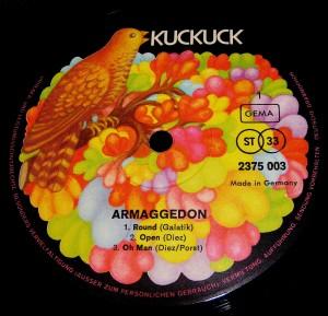 "Oryginalna str. A LP. ""Armaggedon"" (1970)"