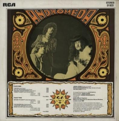 "Tył okładki Lp ""Andromeda"" (1969)"
