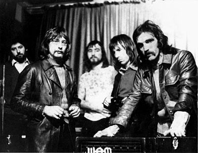 STEEL MILL 1971r. Od lewej do prawej:John Chellenger, David Morris, Terry Williams, Jeff Watts, Chris (The Rat) Martin