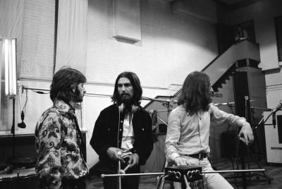 Zespół The Beatles w studio Abbey Road (1969)