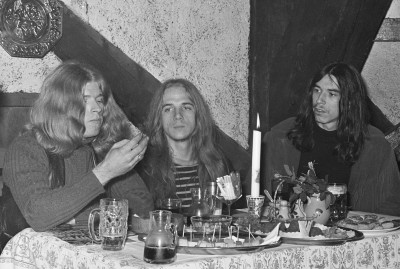 BLUE CHEER. Od lewej: Dickie Peterson, Paul Whaley i Randy Holden.