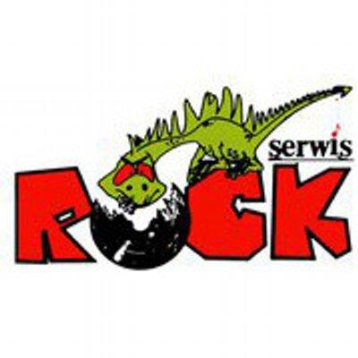 """Logo krakowskiego wydawnictwa """"Rock Serwis"""""""