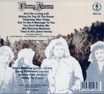 """Tył okładki""""Fanny Adams"""" (reedycja CD 2005)"""