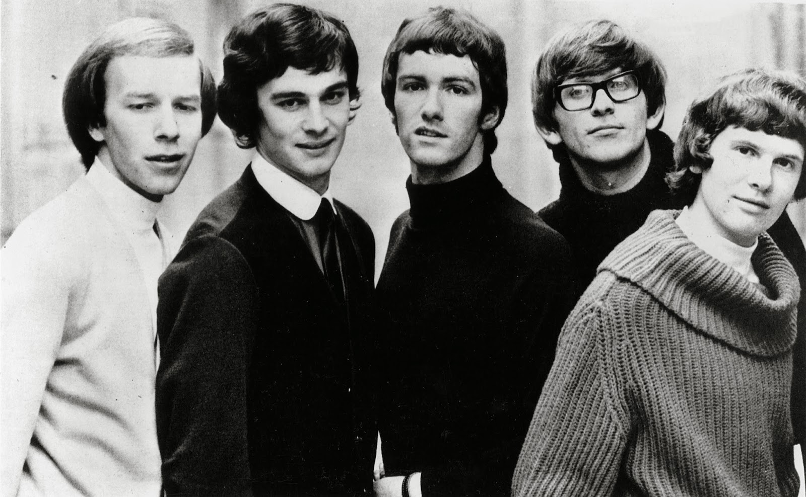 The Zombies. Od lewej: Hugh Grundy, Colin Blunstone, Paul Atkinson, Chris White, Rod Argent