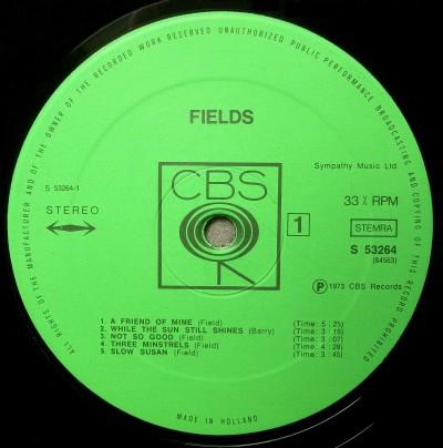 Label płyty winylowej