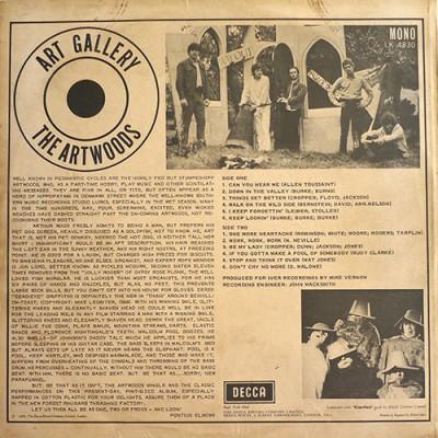 Tył okładki oryginalnego LP.