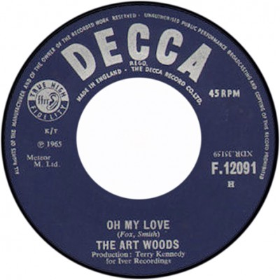 "Label drugiego singla ""Oh My Love"" (luty 1965)"