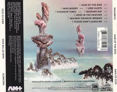 Tył okładki. Reedycja CD wytwórni A&M (1990)