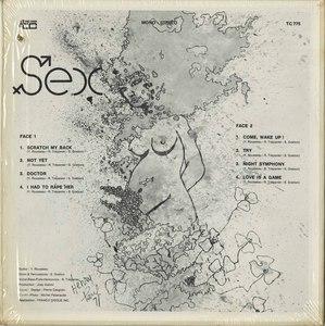"""Tył okładki LP """"Sex"""""""