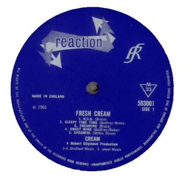 Label brytyjskiego LP.