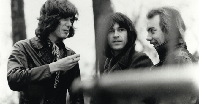 Quatermass. Od lewej: Peter Robinson, John Gustafson, Mick Underwood.