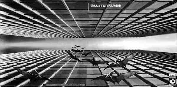 "Okładka albumu ""Quatermass"" (1970) autorstwa Storma Thorgesona."