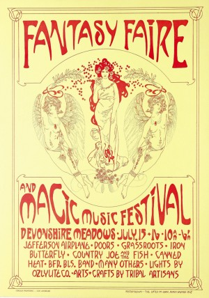 Plakat reklamujący Fantasy Fair.
