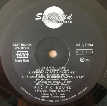 Oryginalny label wytwórni Splendid Records (1972)