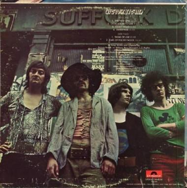 Tył okładki amerykańskiego wydania (Polydor 1970)