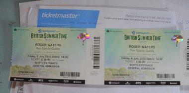 Bilety dostarczono 3 tygodnie przed koncertem.