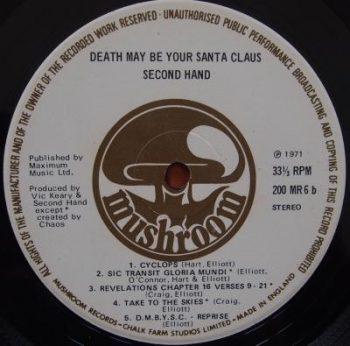 Label oryginalnego LP wytwórni Mashroom