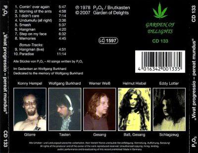 Tył okładki CD wytw. Garden Of Gelight (2007)