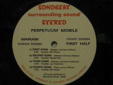 Label winylowej płyty firmy Sonobeat