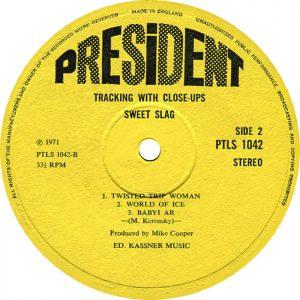 Oryginalny label President Record